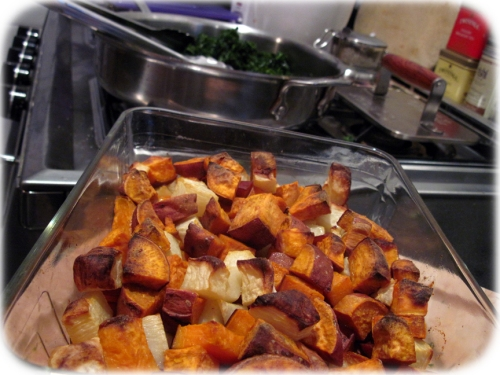 Sweet Potatoes + Turnips + Kale = A Threesome Made in Heaven!